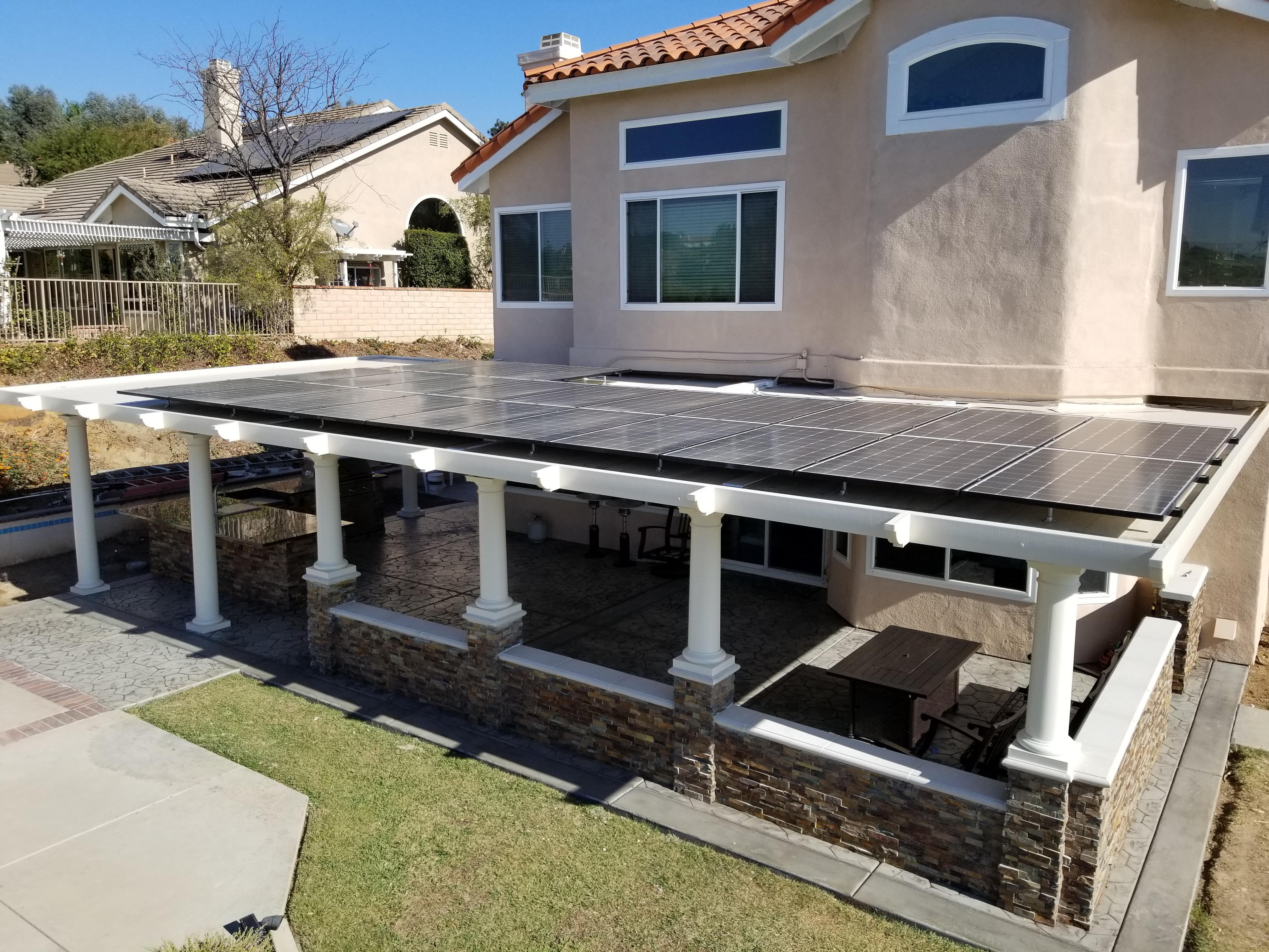 Patio Cover Evolution Solar Energy